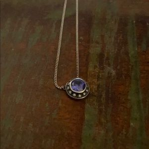 Silpada Sterling Silver Blue Saphire Halo Necklace